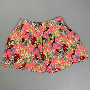 Forever21 tropical mini skirt
